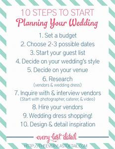 Newly Engaged 10 Steps To Start Planning A Wedding