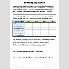 Boundaries Exploration (worksheet)  Therapist Aid