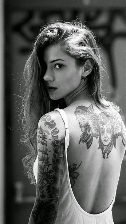 Iphone Tattooed Tattoo Tattoos Female Models Tatoos