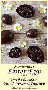 Homemade Easter Eggs with Dark Chocolate Salted Caramel ...