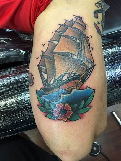 Traditional Tattoo Tattoos American Ship History Sailboat