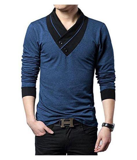 Try This Blue V-Neck T-Shirt - Buy Try This Blue V-Neck T ...