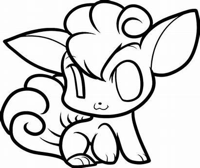 Pokemon Coloring Chibi Pages Vulpix Draw Anime