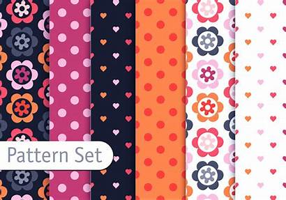 Pattern Colorful Romantic Vector Girly Vecteezy Patterns