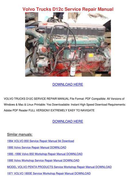 volvo trucks dc service repair manual  louisakerr issuu