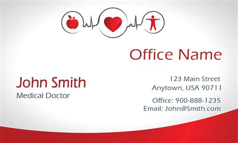 clean gradient family doctor business card design