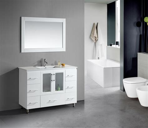 modern bathrooms ideas stanton 48 inch white finish bathroom vanity set