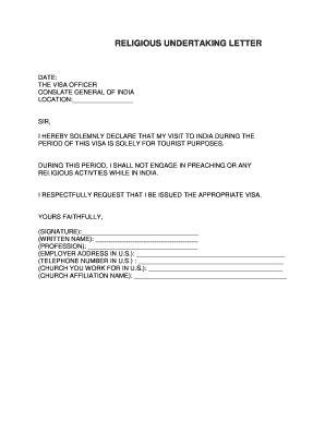 letter  undertaking fill  printable fillable