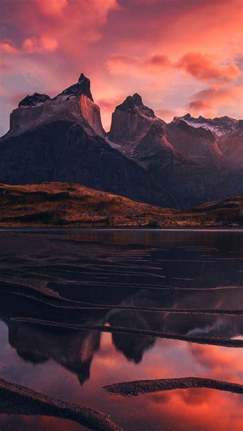 wallpaper patagonia beautiful landscape mountains lake
