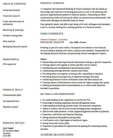 Finance Assistant Resume by Sle Finance Resume 11 Exles In Word Pdf