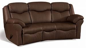 Kenwood Curved Reclining Sofa Countryside Amish Furniture