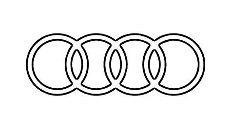 draw  audi logo symbol emblem youtube