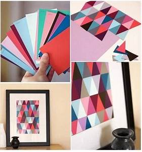 Diy paint chip wall art pictures photos and images for