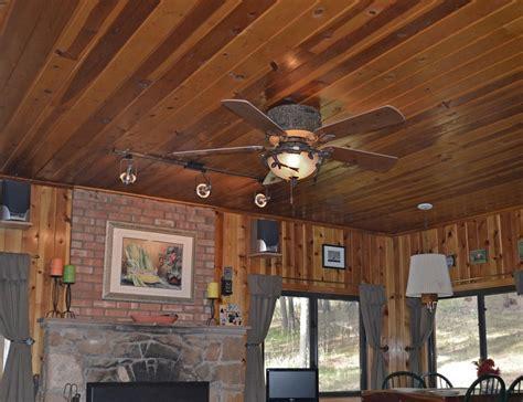 forest breeze ceiling hugger fan rustic lighting  fans
