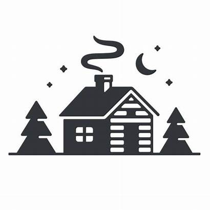 Cabin Log Clipart Vector Woods Clip Silhouette