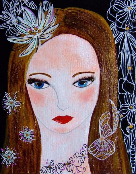 portrait femme visage peinture acrylique portrait contemporain tableau portrait toile