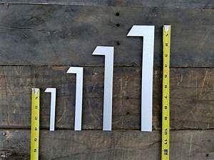 123939 large modern house numbers brushed aluminum stud With large house letters