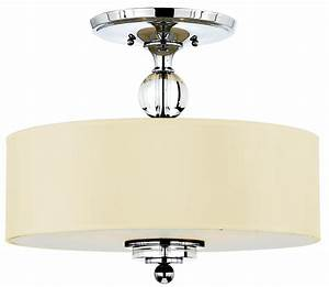 Quoizel dw1717c downtown modern contemporary semi flush for Semi flush mount lighting modern