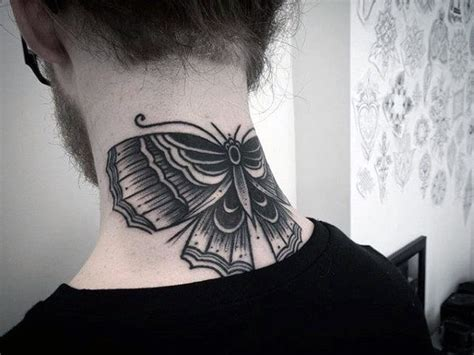 moth tattoos  men nocturnal insect design ideas