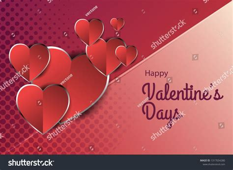 valentines day conceptual background vector illustrations