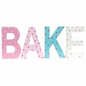 spotted 39bake39 letters by the contemporary home 1950s With bake letters