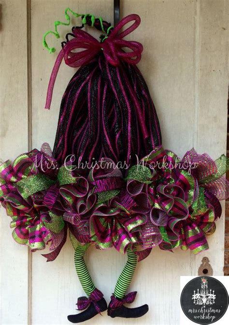 halloween wreath deco mesh witch hat