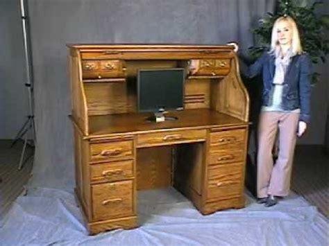 oak roll top computer desk  stock  shipping
