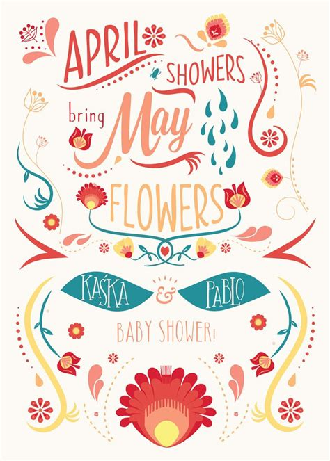 April Showers by April Showers Bring May Flowers On Behance Baby Shower
