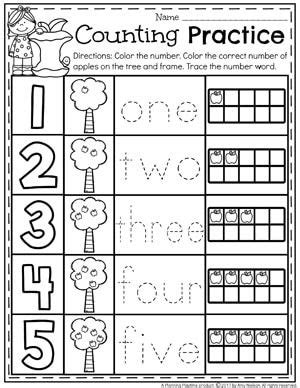 number worksheets  images math centers