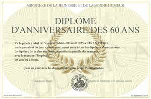 60 ans de mariage image gallery diplome 60 ans