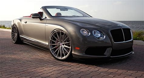 bentley custom rims slammed bentley continental gtc on custom hoops