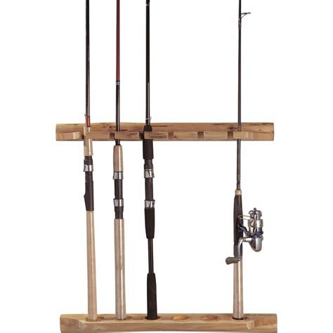 rush creek creations  fishing rod wall storage rack solid