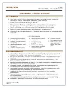 software project manager resume template financial project manager sle resume associate brand management exles and writingproject