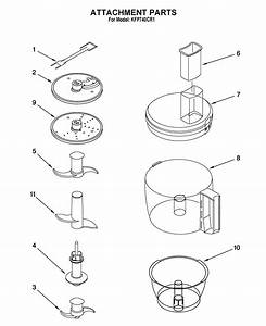 Kitchenaid Kfp740cr1 Food Processor Parts