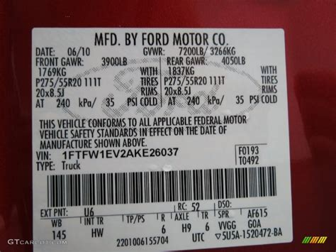 ford vin paint code uk paint color ideas