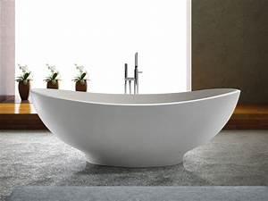 Frei Stehende Badewanne : freistehende badewanne vicenza aus mineralguss wei matt oder gl nzend 159x87x56 oval ~ Udekor.club Haus und Dekorationen