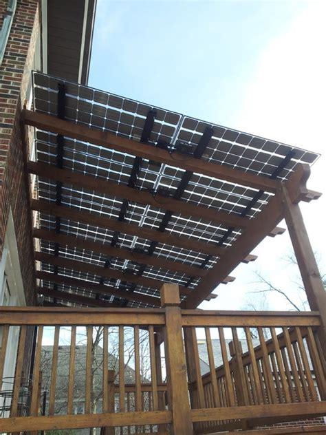 deck shaded  solar panels