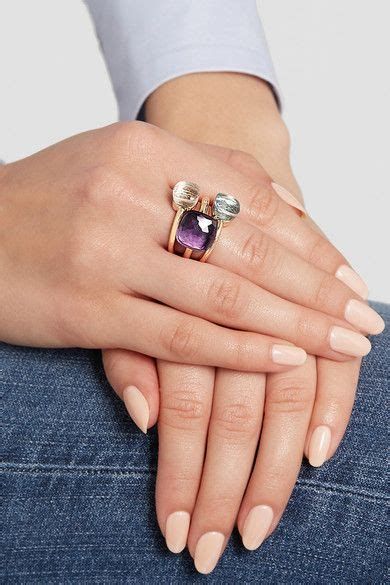 pomellato ring nudo pomellato nudo maxi ring aus 18 karat ros 233 gold mit