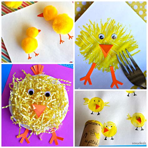 the most adorable crafts for crafty morning 670 | easter chick crafts for kids