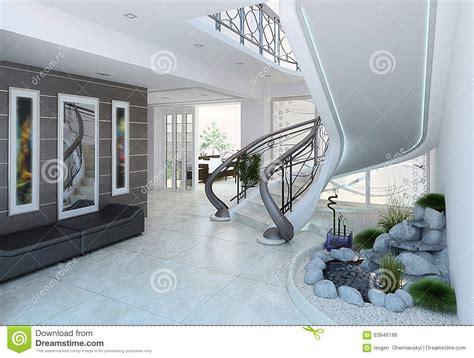 Les Idées De Décoration De Hall D'entrée, 3d Rendent