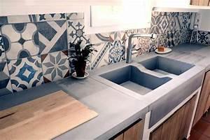 Beton Pour Plan De Travail : la cuisine b ton plan de travail suprab ton balian ~ Premium-room.com Idées de Décoration