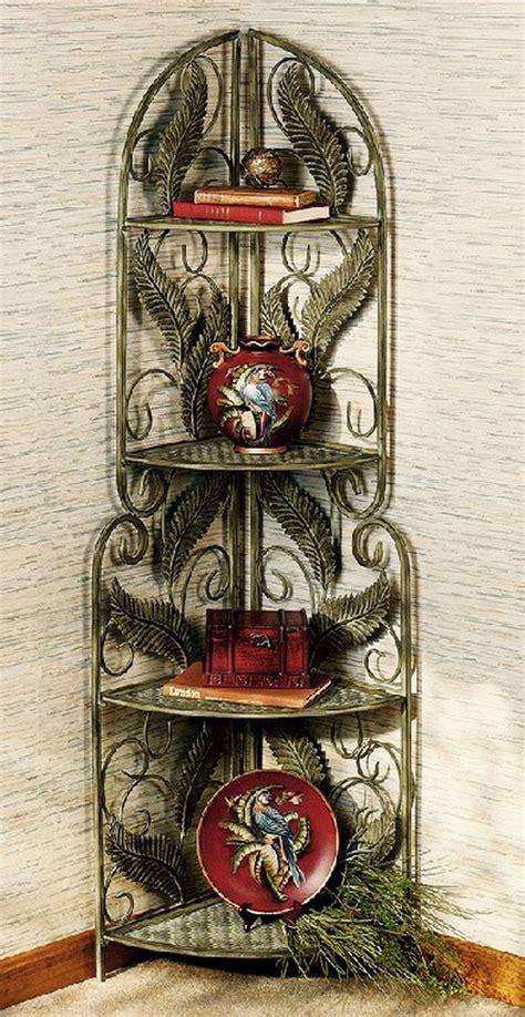 Wrought Iron Corner Etagere by Best Corner Shelves Hometone
