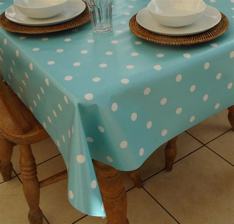 wipe clean table cloth square wipe clean tablecloth baby blue polka dot the