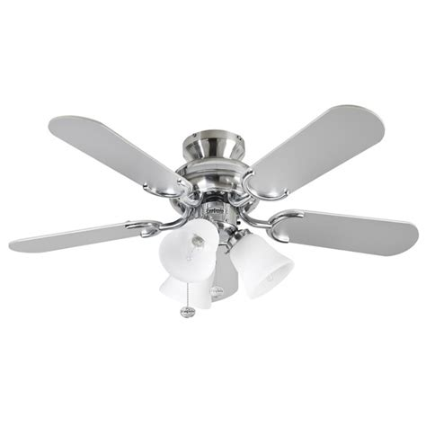 fantasia 36 inch pull cord stainless steel ceiling