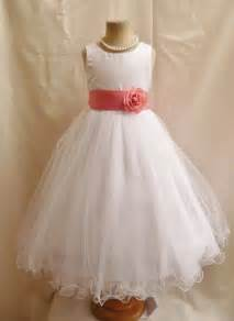 wedding flowers costco flower girl dresses white with guava or coral fd0fl