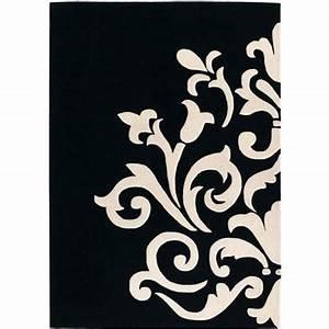 tapis design pas cher tapis salon contemporain meubles With tapis noir et blanc design