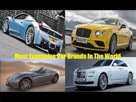 top   expensive cars brands   world