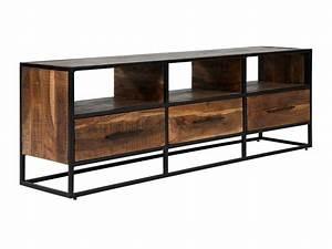 Tv Möbel Metall : tv bank lowboard massiv akazie holz 3 schubladen schrank metall neu oklahoma ebay ~ Whattoseeinmadrid.com Haus und Dekorationen