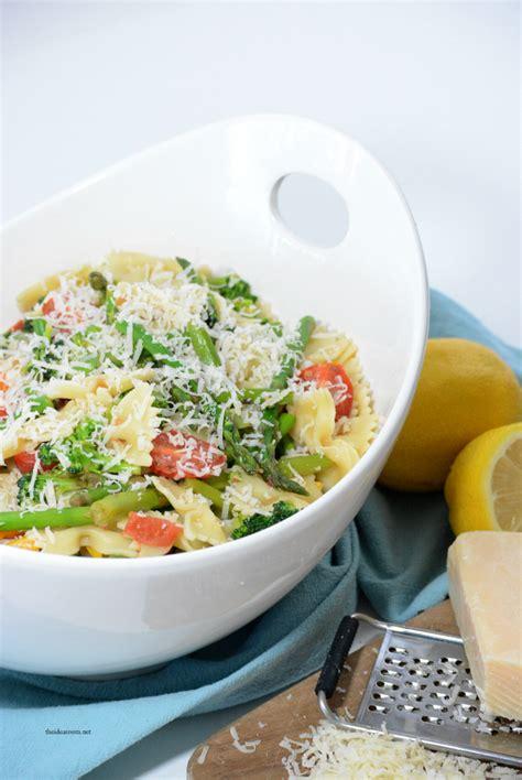 spring veggie pasta salad  idea room