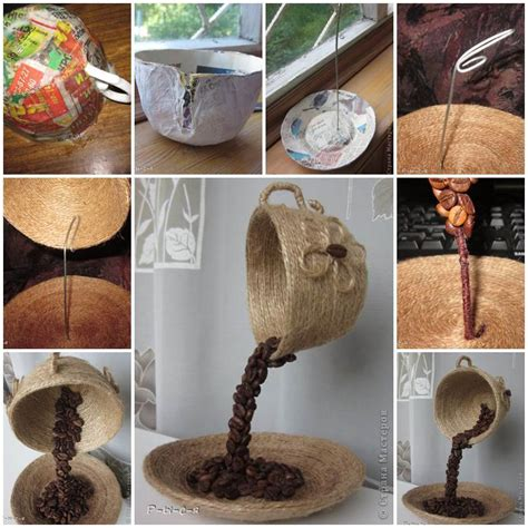 diy unique table decor  coffee beans